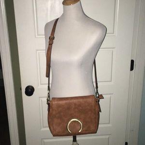 Chillx brown leather crossbody purse